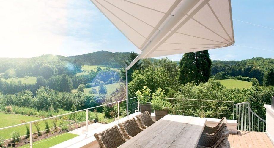 Gesteuertes Sonnensegel Balkon